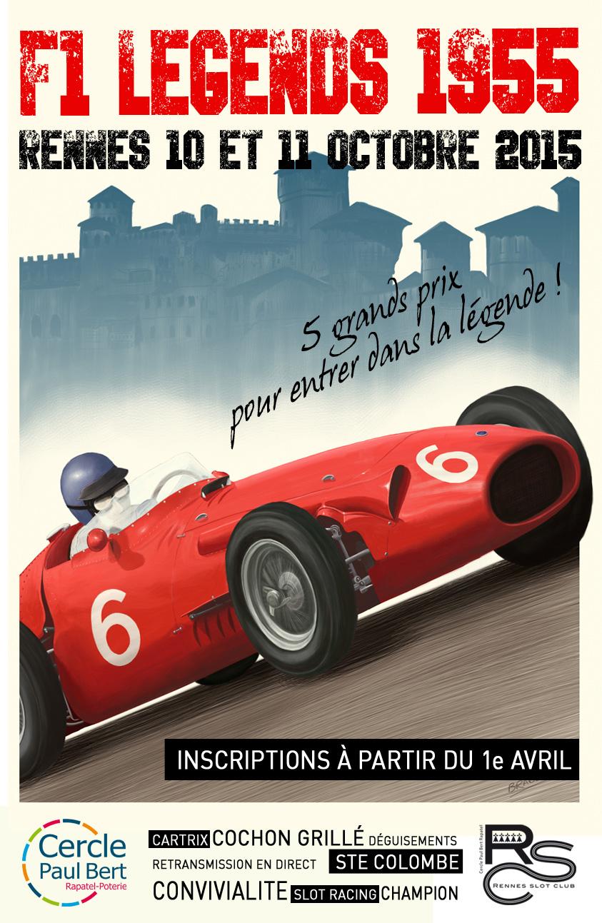 F1 Legend 1955 - 10 et 11 octobre 2015 Affiche
