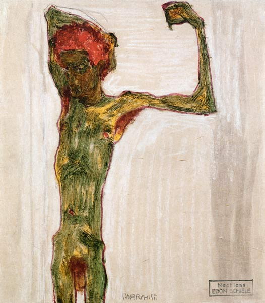 Egon Schiele [peintre] Anarchist_Egon_Schiele