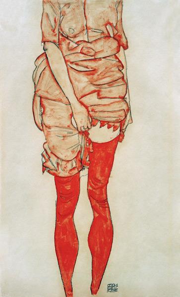Egon Schiele [peintre] Schiele_frau_rot