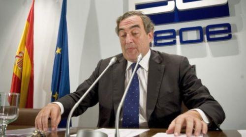 El presidente de la CEOE plantea revisar la prestación por desempleo Rosell-500