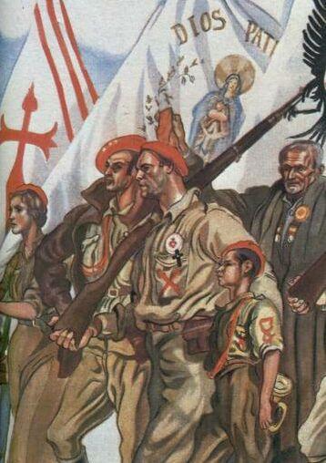 TERCIOS CATÓLICOS REQUETÉS Guerra Civil Española Carlistas