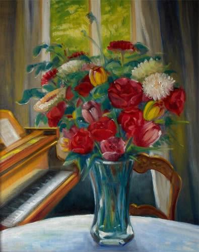 Les FLEURS  dans  L'ART Vente-peinture-19