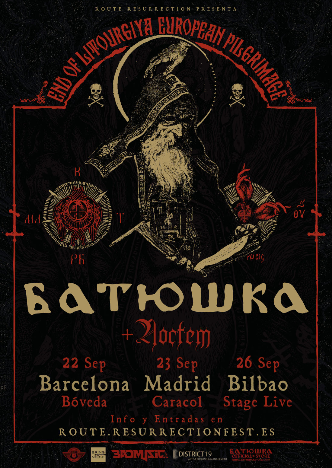 ADORANDO EL BLACK METAL A LOS 40 - Página 3 Route-Resurrection-2018-Batushka-Poster-Noctem-1100x1551