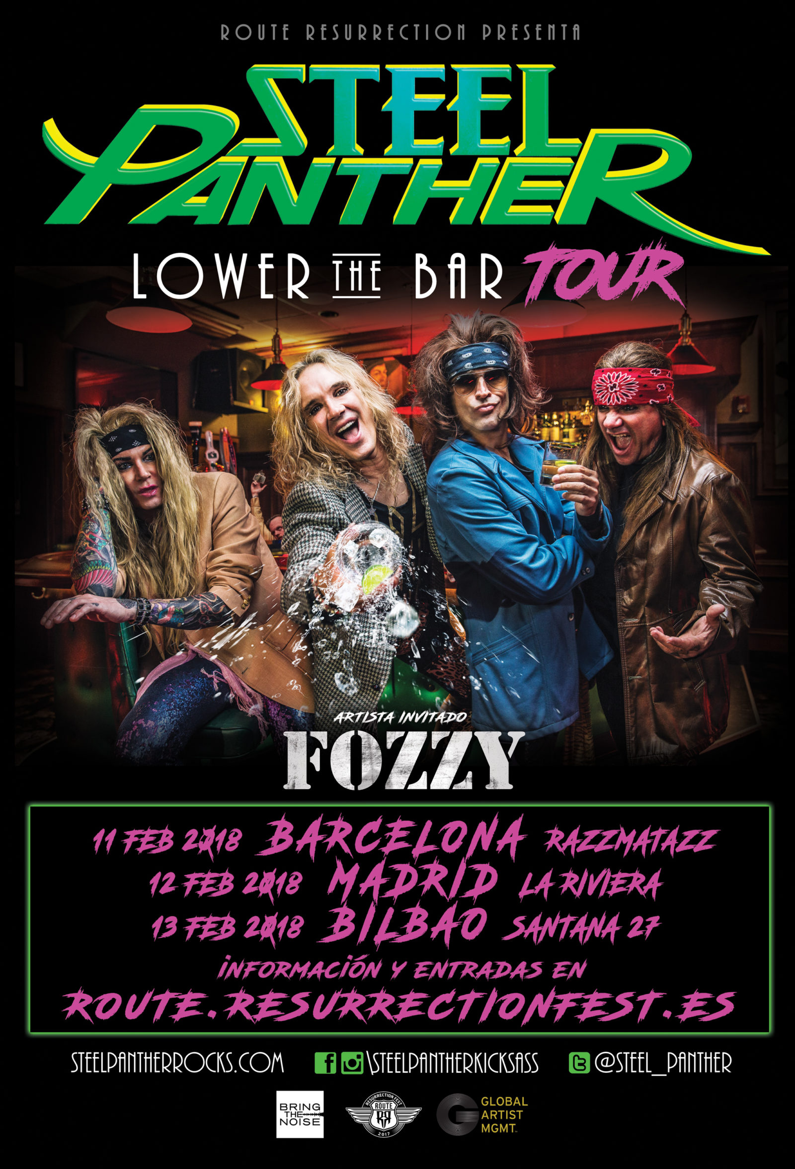 STEEL PANTHER, CACHONDEO METAL - Página 6 Route-Resurrection-2018-Steel-Panther-and-Fozzy-Poster-1600x2353