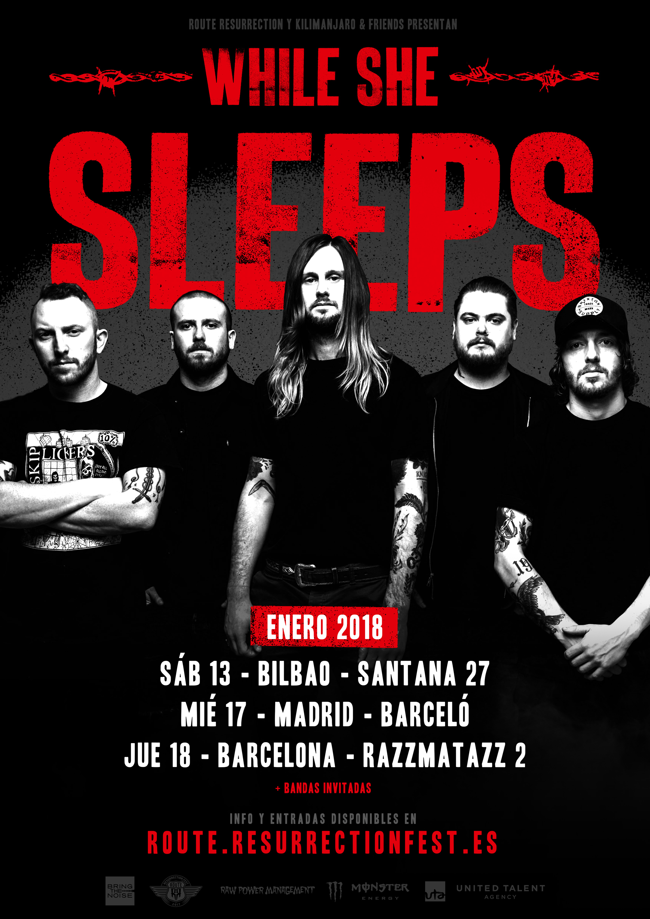 While she sleeps-The topic - Página 4 Route-Resurrection-2018-While-She-Sleeps-Poster