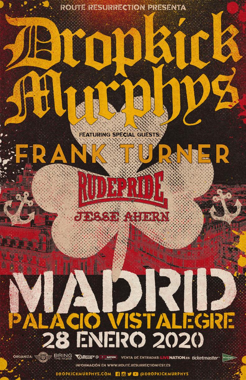 Ahora sí: FRANK TURNER - Página 10 Route-Resurrection-2020-Dropkick-Murphys-Poster-1