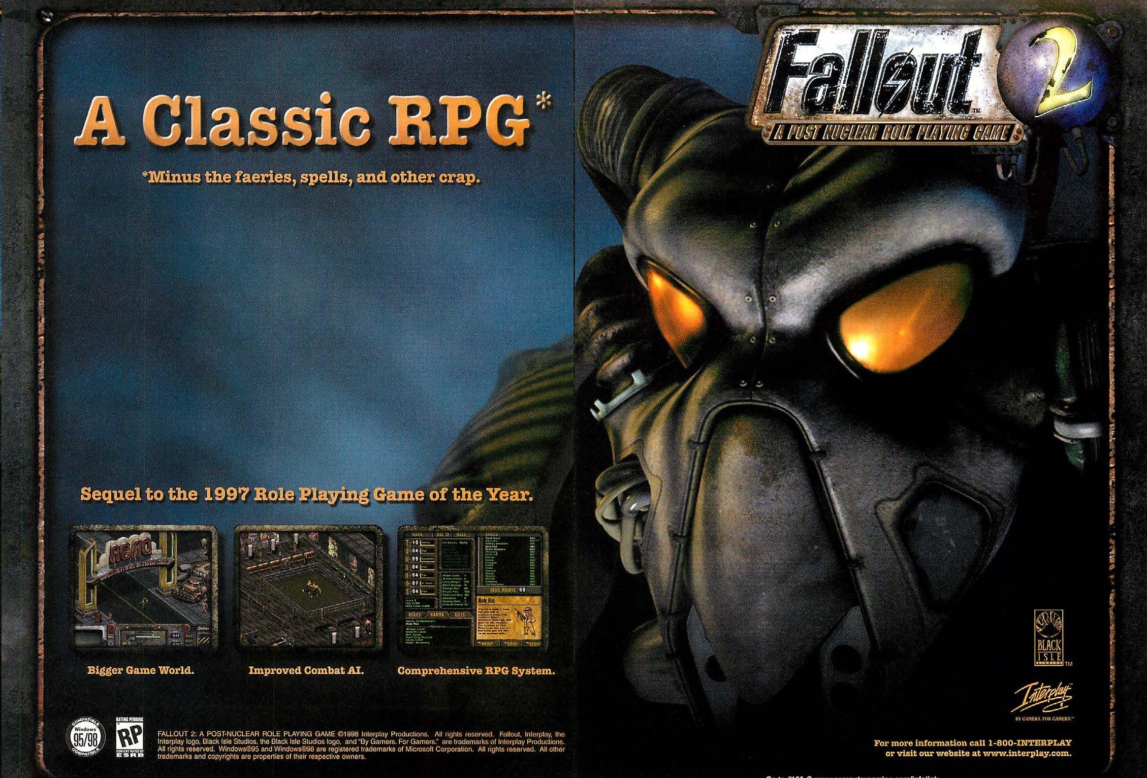 ¿Mejor RPG de todos los tiempos? Fallout2