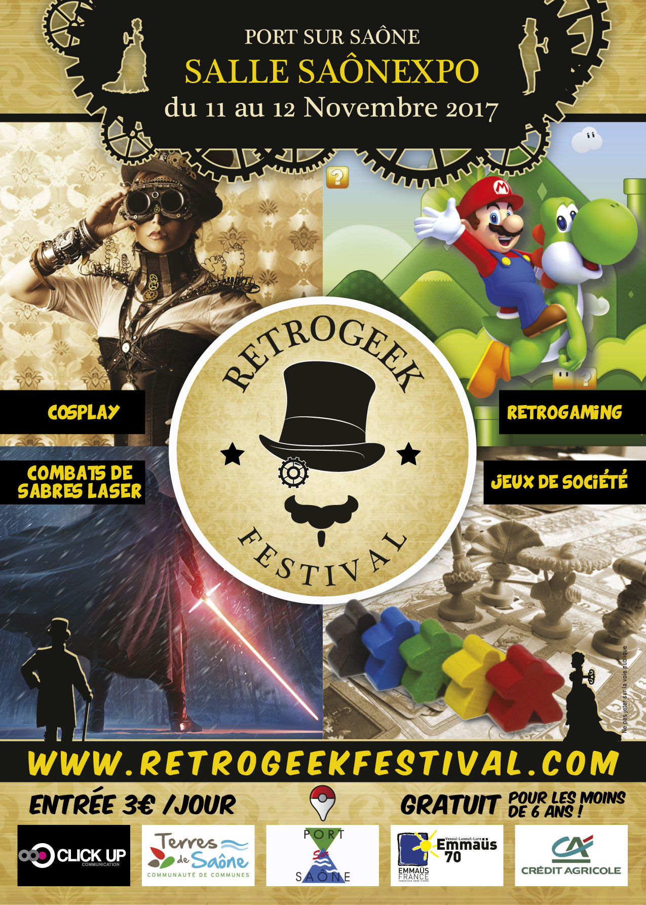 Festival RETROGEEK à Port-Sur-Saône les 11 & 12 novembre 2017 Affiche-retrogeek