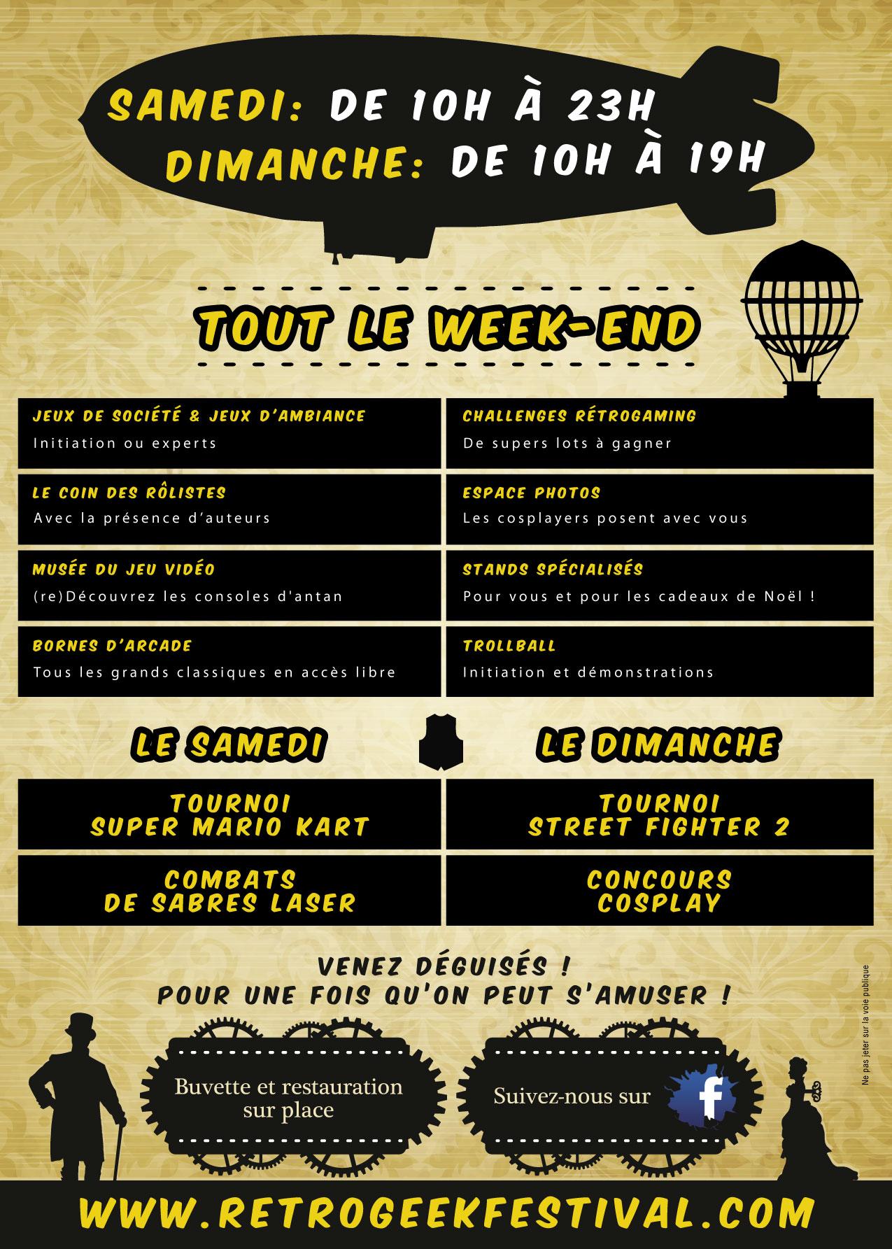 Festival RETROGEEK à Port-Sur-Saône les 11 & 12 novembre 2017 Programme