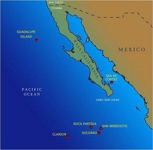 El rincón más lejano de México Archipiélago de Revillagigedo. Revillagigedo-Islands-color-S