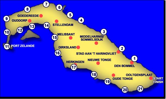 110km: Tour de l'île de Goere-Overflakkee(NL): 26-27/08/2011 Kaart-2008