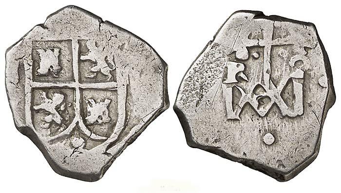 1 real tipo María. Carlos II. Sevilla Spa1325