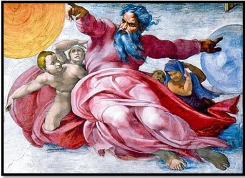 Древний культ карго или свидетельство единой древней религии? Sistine-chapel-god