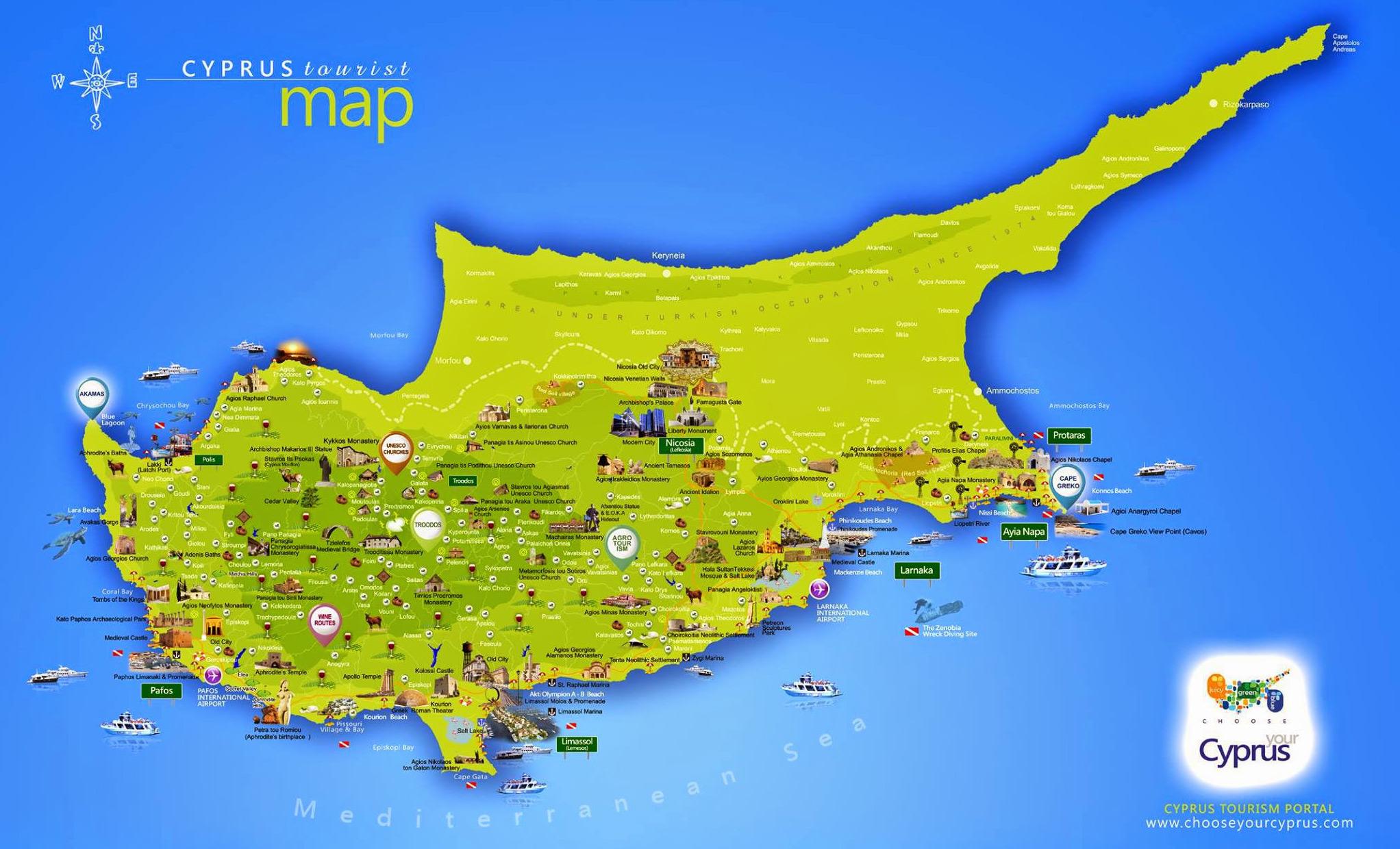 Kipar Mapa