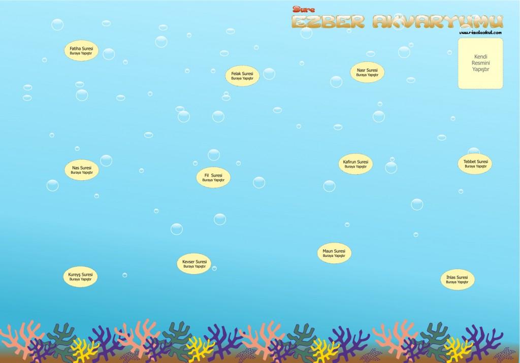 SURE EZBER AKVARYUMU – Çocuklarımıza sure ezberletmek için harika bir çalışma Akvaryum2-1024x715