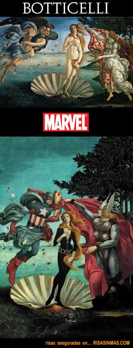 The Avengers FanArts - Página 7 El-nacimiento-de-Venus-version-Marvel-rsm