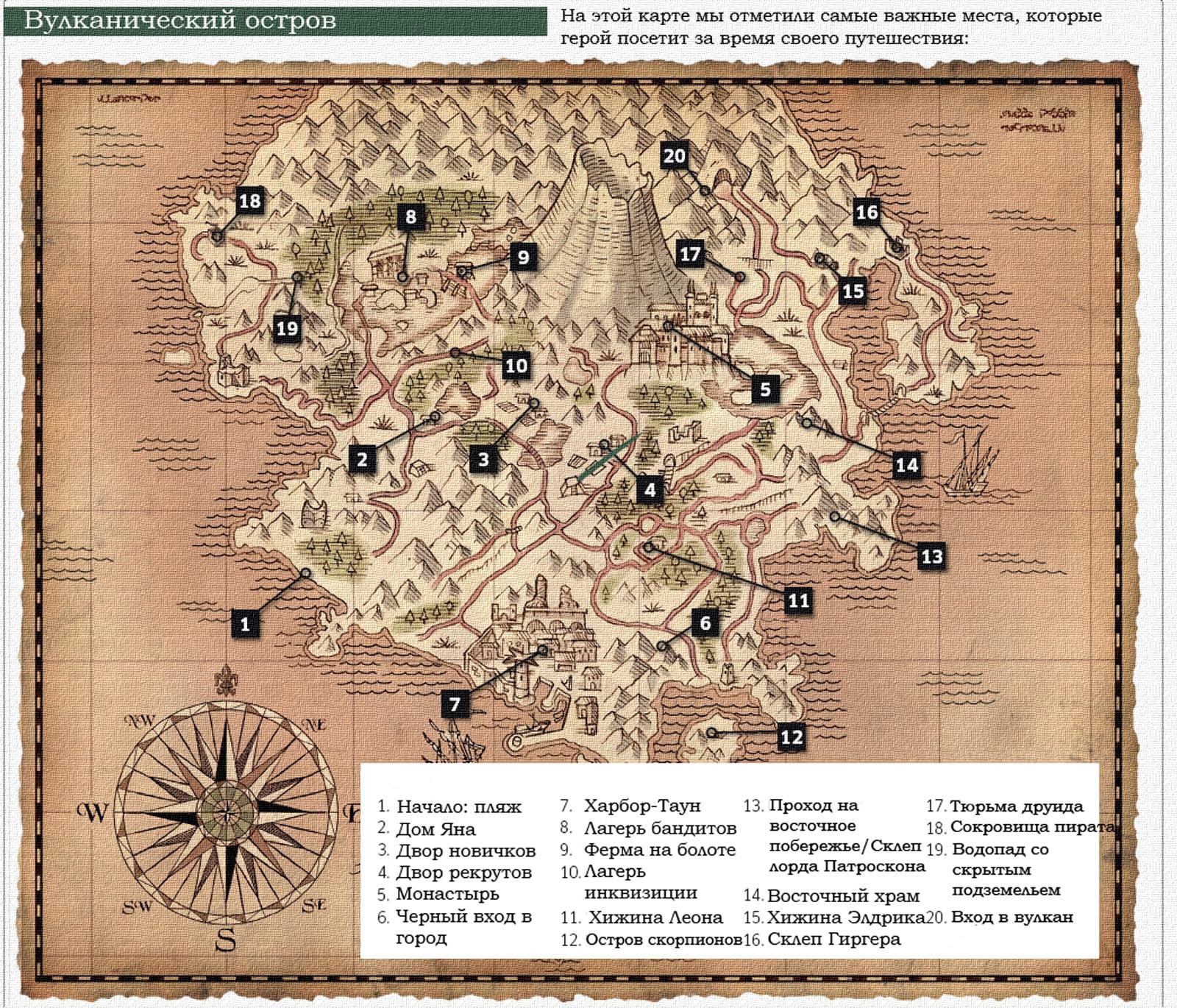Рисен карты Ostrov