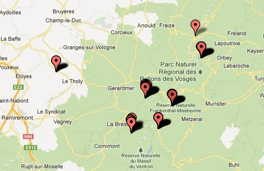 Sortie WK dans les Vosges, le wk du 26, 27 et 28 mai 2012 : Les photos Carte2