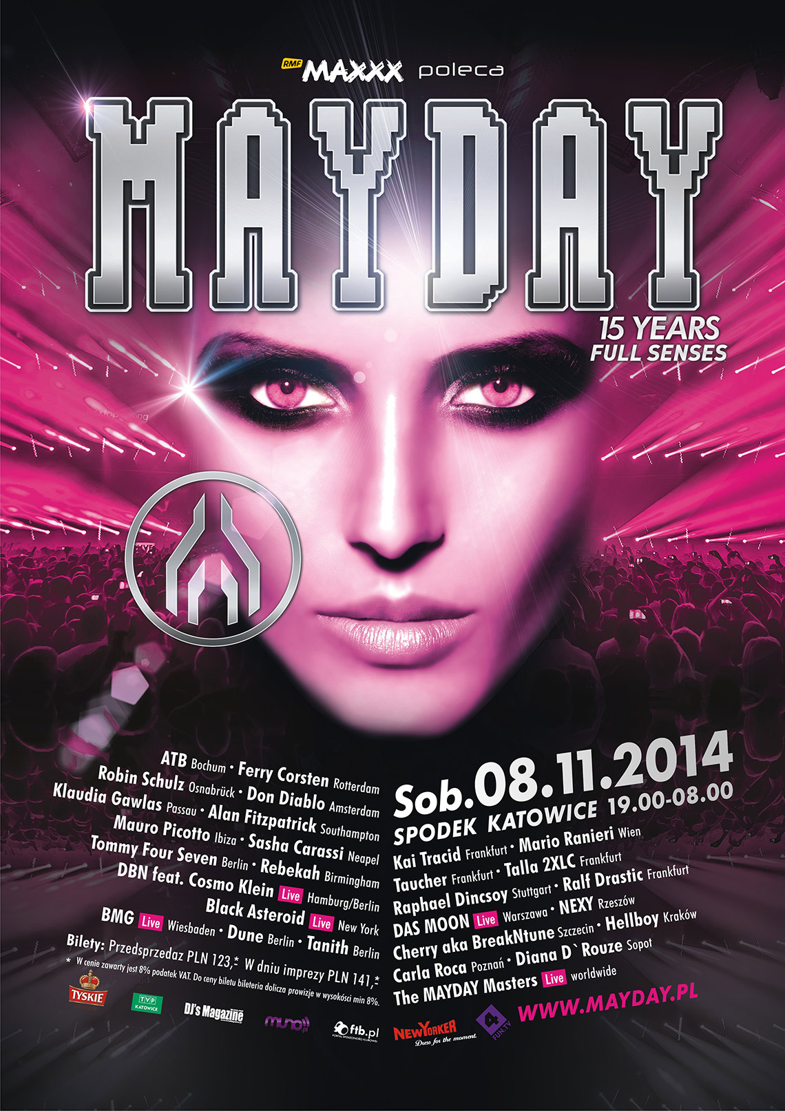 Mayday Poland 2014, Katowice, Poland (08.11.2014) Lineup