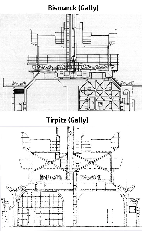 Les projets de bateaux de l'axe(toutes marques et toutes échelles confondues). - Page 5 Tirpitz-bismarck-gally