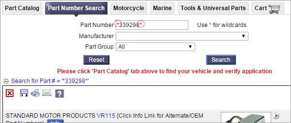 Part Number Search tab ForumNov15EN
