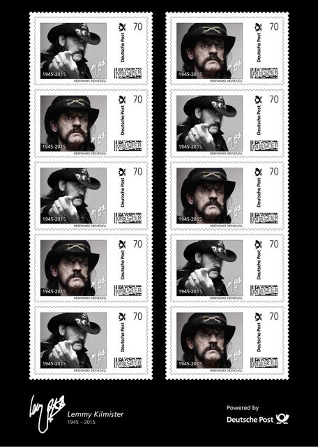 Τα Γερμανικά ταχυδρομεία τιμούν τον Lemmy με νέο γραμματόσημο LemmyPostinside