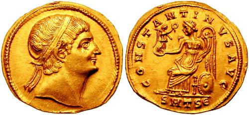 كيف نعرف ضرب او سك العمله للمدن الرومانيه ConstantinusISolidus