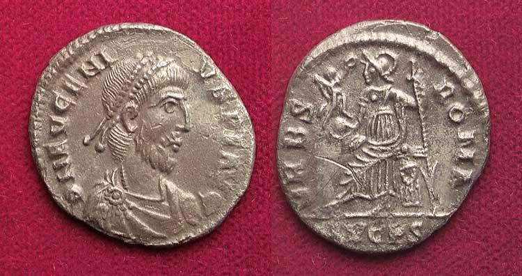 كيف نعرف ضرب او سك العمله للمدن الرومانيه Eugenius