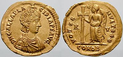 كيف نعرف ضرب او سك العمله للمدن الرومانيه GallaPlacidia