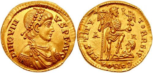 كيف نعرف ضرب او سك العمله للمدن الرومانيه Jovinus2002