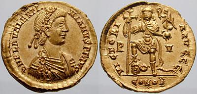كيف نعرف ضرب او سك العمله للمدن الرومانيه ValentinianIII