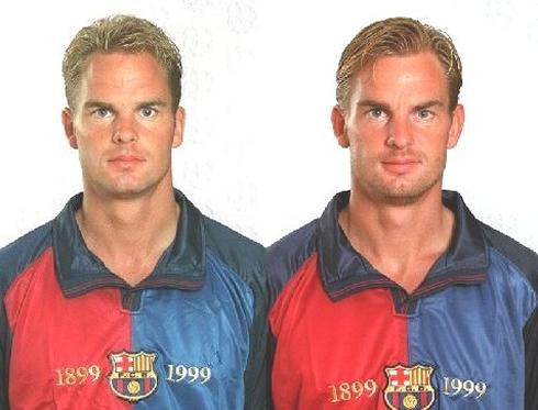 ¿Cuánto miden Gemeliers? (Dani Oviedo y Jesús Oviedo) - Altura Cristiano-ronaldo-573-ronald-de-boer-and-frank-de-boer-in-barcelona-1999-2000-blonde-twin-brothers-in-same-sports-team