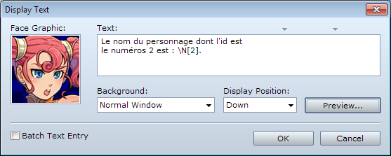 [ace]]Les codes messages dans Rpg Maker VxAce. Nom2