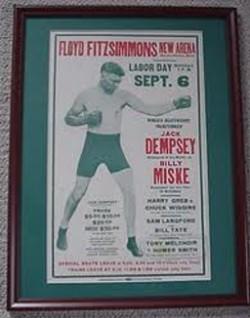 Legende boksa Dempsi-Miske-plakat