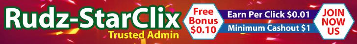 [PAGANDO] RUDZ-STARCLIX - Standard - Refback 80% - Mínimo 1$  (Regala $0.10 en compras) Recibido Pago 2$ Banner728x90