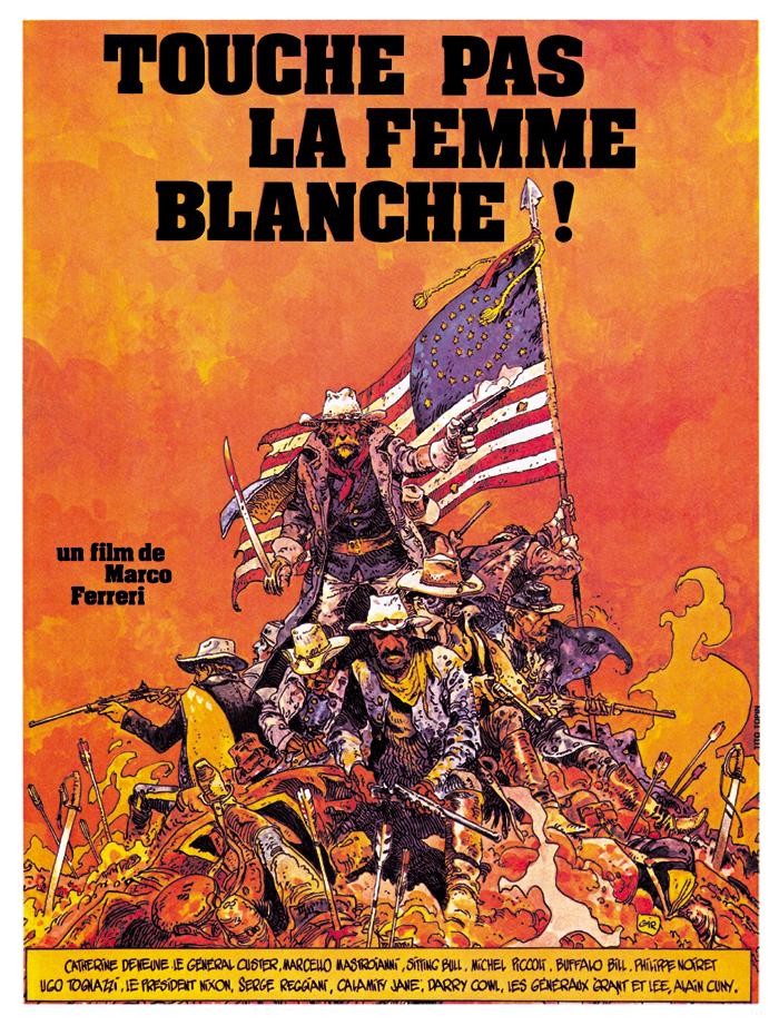 Les plus belles affiches de cinéma - Page 4 Rueducine.com-touche-pas-la-femme-blanche-1974