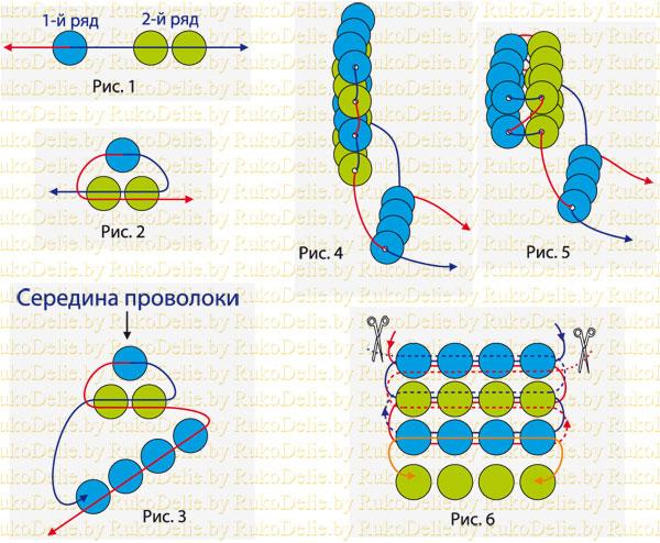 Техника плетения - параллельное плетение R1511011