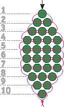Техника плетения - параллельное плетение R1511012