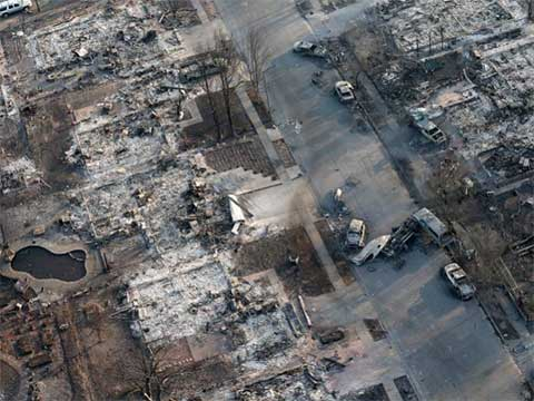 UPDATES ~ Napa Valley on Fire   20171010-coffey-park-overhead-aerial-view