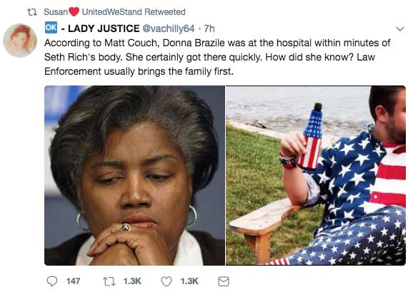 According to Matt Couch, Donna Brazile was at the hospital within minutes of their receipt of Seth Rich's body. How did she know so quickly? 20180820-donna-brazile-at-richs-hospital
