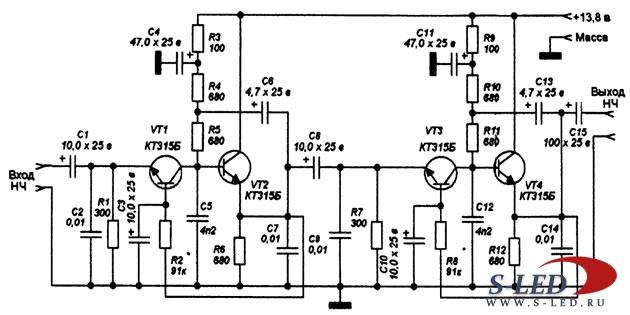 Схемотехника УНЧ на транзисторах 1299187353_unch_predvaritelniy
