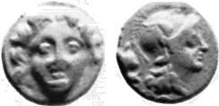 Hemiobolo acuñado en tiempos de Pharnabazos-Datames en Tarsos, Cilicia 0700_1298
