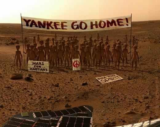 La Nasa descubre indicios de agua en Mercurio dentro de unos cráteres profundos en los polos Yankee-go-home-mars