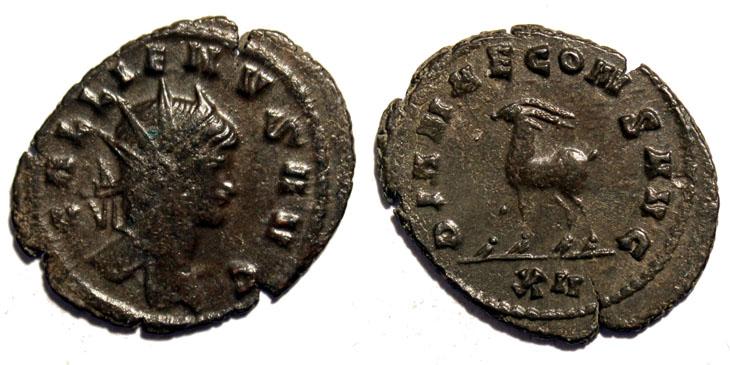 monnaies romaines Bestaire-de-gallien-photo-1