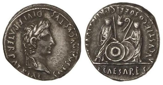 monnaies romaines Caius-lucius-princes-de-la-jeunesse(1)