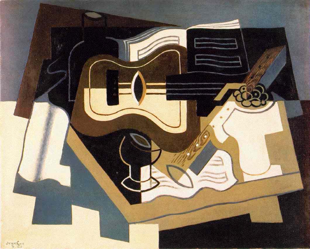 La clarinette vue par les peintres Gris.guitar-clarinet