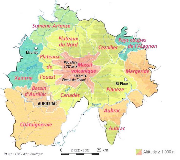 Les pays du Cantal Xaintrie