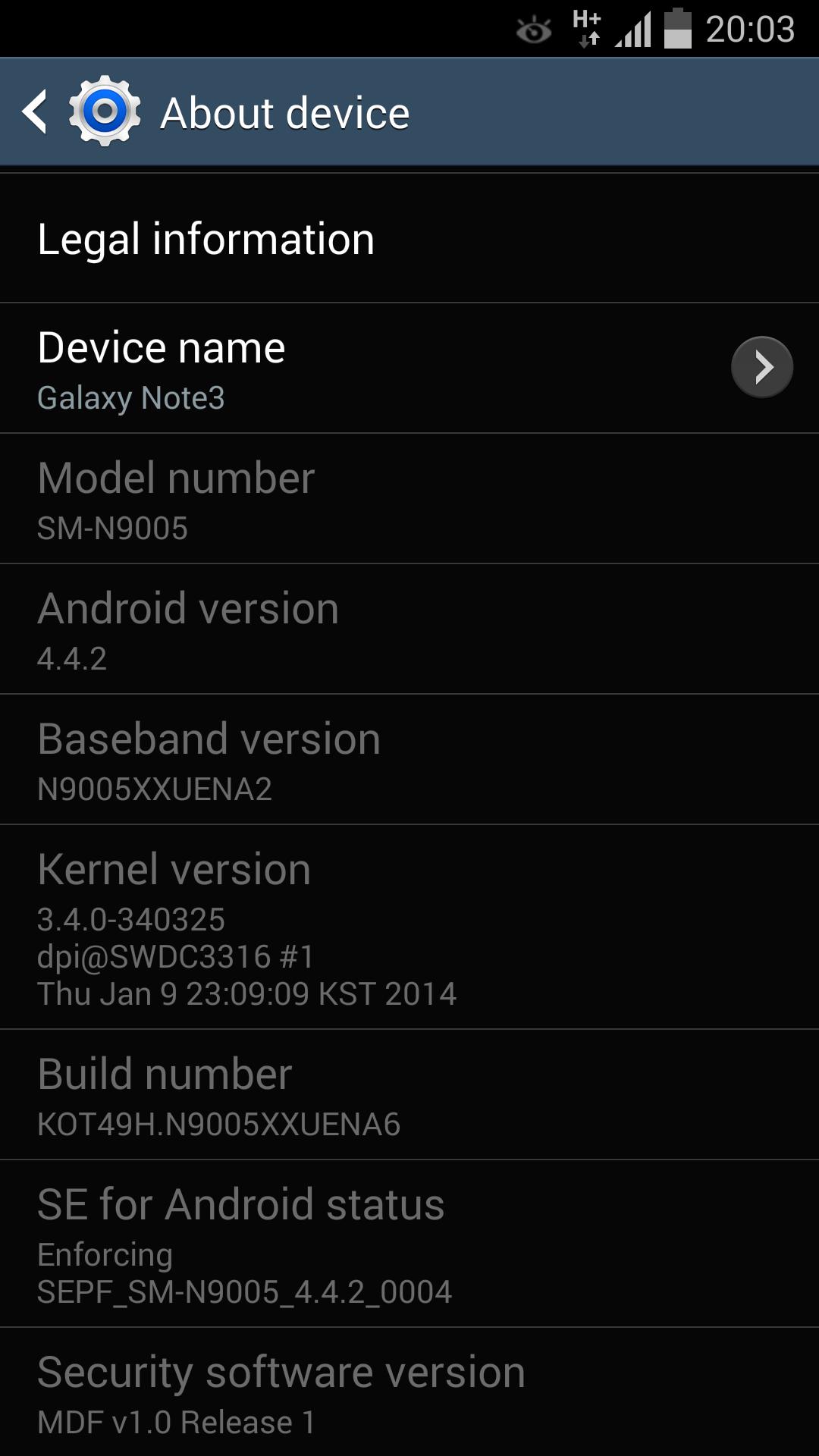 [ROM 4.4.2][SM-N9005] Rom Stock Samsung Android KitKat 4.4.2 [XXUENA6] [12.01.2014] Screenshot_2014-01-12-20-03-13