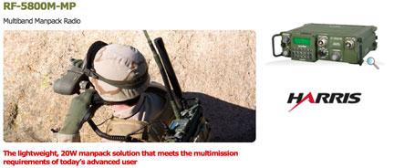 Equipamiento de radios tacticos Harris Falcon II para 2012.  Harris_RF5800MMP