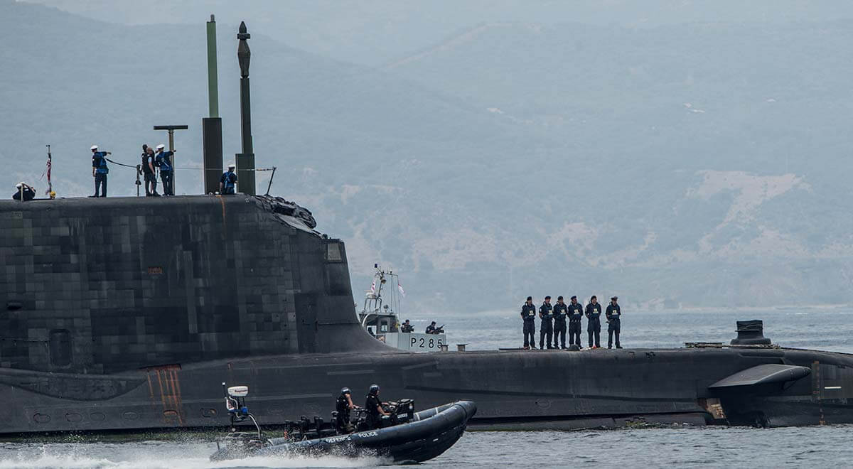 FOST (Flag Officer Sea Training) and Perisher - Page 2 HMS-Ambush-departs-Gibraltar